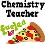 CHEMISTRY TEACHER Funny Fueled By Pizza T-shirts
