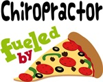 CHIROPRACTOR Funny Fueled By Pizza T-shirts