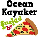 OCEAN KAYAKER Funny Fueled By Pizza T-shirts