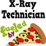 X-RAY TECHNICIAN Funny Fueled By Pizza Tshirts