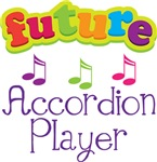 FUTURE ACCORDION PLAYER KIDS T_SHIRTS