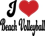 I Heart Beach Volleyball T-shirts and Gifts