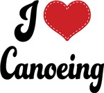 I Heart Canoeing T-shirts and Gifts