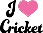 I Heart Cricket T-shirts and Gifts