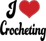 I Heart Crocheting T-shirts and Gifts