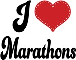 I Heart Marathons T-shirts and Gifts