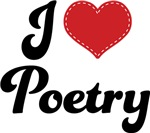 I Heart Poetry T-shirts and Gifts