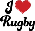 I Heart Rugby T-shirts and Gifts