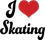 I Heart Skating T-shirts and Gifts