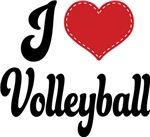 I Heart Volleyball T-shirts and Gifts