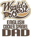 English Cocker Spaniel Dad (Worlds Best) T-shirts