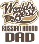 Russian Hound Dad (Worlds Best) T-shirts