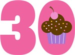 30th BIRTHDAY Cupcake T-SHIRT GIFTS