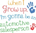 Future Automotive Salesperson Kids T-shirts