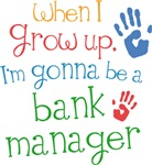 Future Bank Manager Kids T-shirts