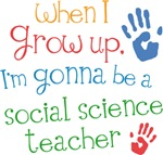 Future Social Science Teacher Kids T-shirts