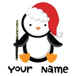Personalized Christmas Flute Penguin Shirts