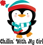Chillin' With My Girl Penguin Mens Couples T-shirt