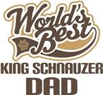 King Schnauzer Dad (Worlds Best) T-shirts