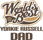 Yorkie Russell Dad (Worlds Best) T-shirts