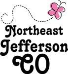 Northeast Jefferson Colorado Butterfly T-shirt