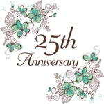 25th Anniversary (Floral) Gifts and Mugs