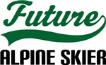 Future Alpine Skier Kids T Shirts