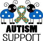 Autism Support Ladybug Puzzle Ribbon Tees