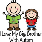 Autism I Love My Big Brother Girls T-shirts