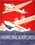 NYC Airports WPA Poster