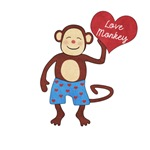 Love Monkey Boy Heart