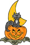 Pumpkin, Cat, & Moon