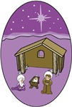 Purple Nativity Scene