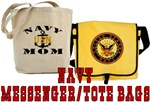 Navy Messenger/Tote Bags