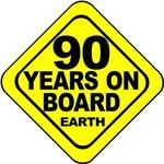 90 years on board Earth! 90th Birthday.