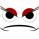 Annoyed cartoon face on t-shirts & gifts.