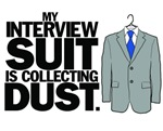 Interview suit collecting dust - men