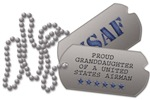 Air Force Granddaughter Dog Tags