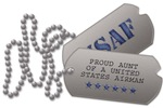 Air Force Aunt Dog Tags