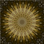 Brown Gold Mandala Kaleidoscope T-shirts & Gifts