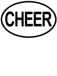 Cheer Cheerleading Cheerleader Oval T-shirts Gifts