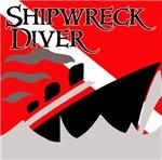 Shipwreck Diver Flag