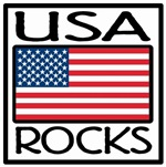 USA Rocks American Flag T-shirts & Gifts