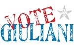 Vote Giuliani President 2008 Elect T-shirts Gifts