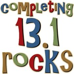 Completing 13.1 Rocks Martathon Run T-shirts Gifts