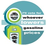 Vote for Lower Gas Prices T-shirts Gifts