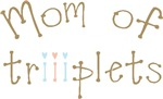 Mom of triplet Boy Girl triiiplet T-shirts Gifts