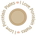 I Love Heart Porcelain Plates T-shirts and Gifts