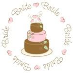 Sweet Bride Wedding Cake T-shirts Gifts