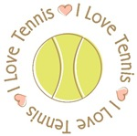 I Love Heart Tennis T-shirts Gifts